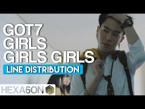 GOT7 - Girls Girls Girls Line Distribution (Color Coded) Re-Uploaded