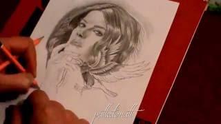Blindspot - Drawing Jaimie Alexander of Blindspot by Pattedematt