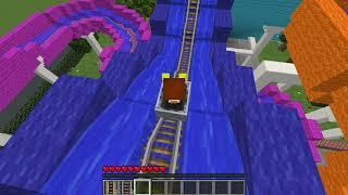 РЕБЕНОК И ДЕВУШКА ВОДНАЯ ГОРКА НУБА НУБ И ПРО  МАЙНКРАФТ В РЕАЛЬНОЙ ЖИЗНИ ВИДЕО ТРОЛЛИНГ Minecraft