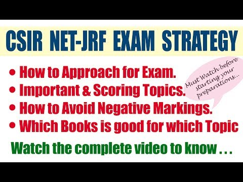 Strategy for CSIR NET-JRF Exam | Books to follow | How to prepare for CSIR NET Exam