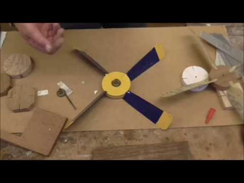 Making a whirligig part 2 propellers - YouTube