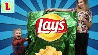 САМЫЕ ГИГАНТСКИЕ ЧИПСЫ В МИРЕ! Bad Baby Giant Chips ские чипсы