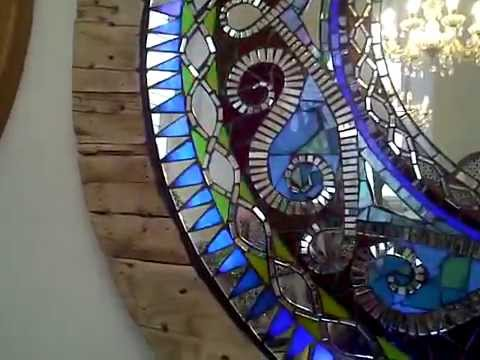 Illuminated Stained Glass Mirror With Controller By Cotfield Mirrors Youtube