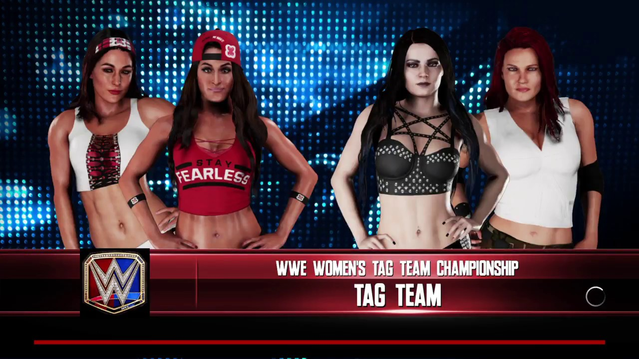 afe4df091 WWE 2K18 Paige,Lita VS Nikki Bella,Brie Bella Elimination Tag Match WWE  Women's Tag Titles
