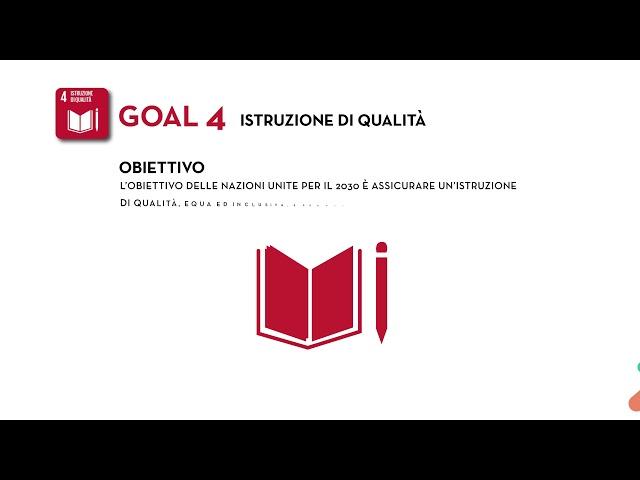 SDG's Goal 4: Istruzione di qualità