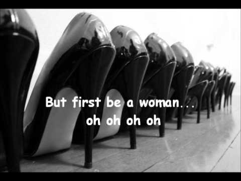 Gloria Gaynor - First be a woman lyrics.wmv