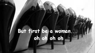 Gloria Gaynor - First be a woman lyrics.wmv