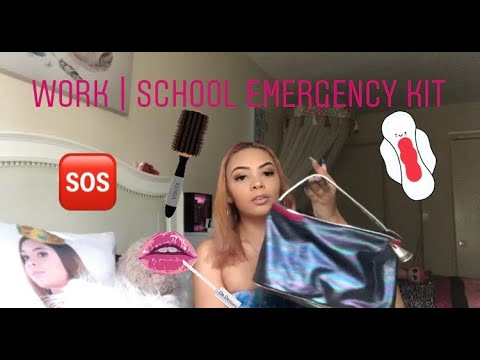 Everything you NEED in your school/ work EMERGENCY kit | 2019