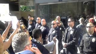 Justice for Africa March- at LAPD HQ