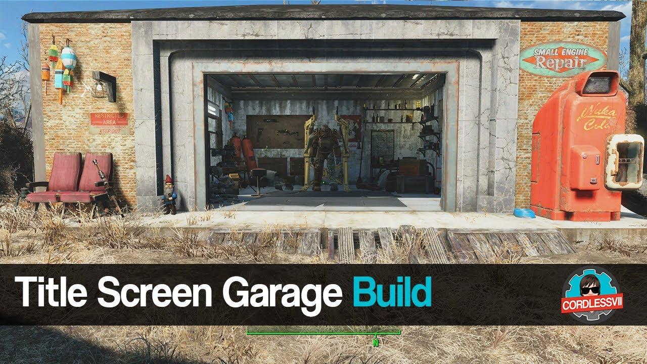 fallout 4 title screen garage build youtube