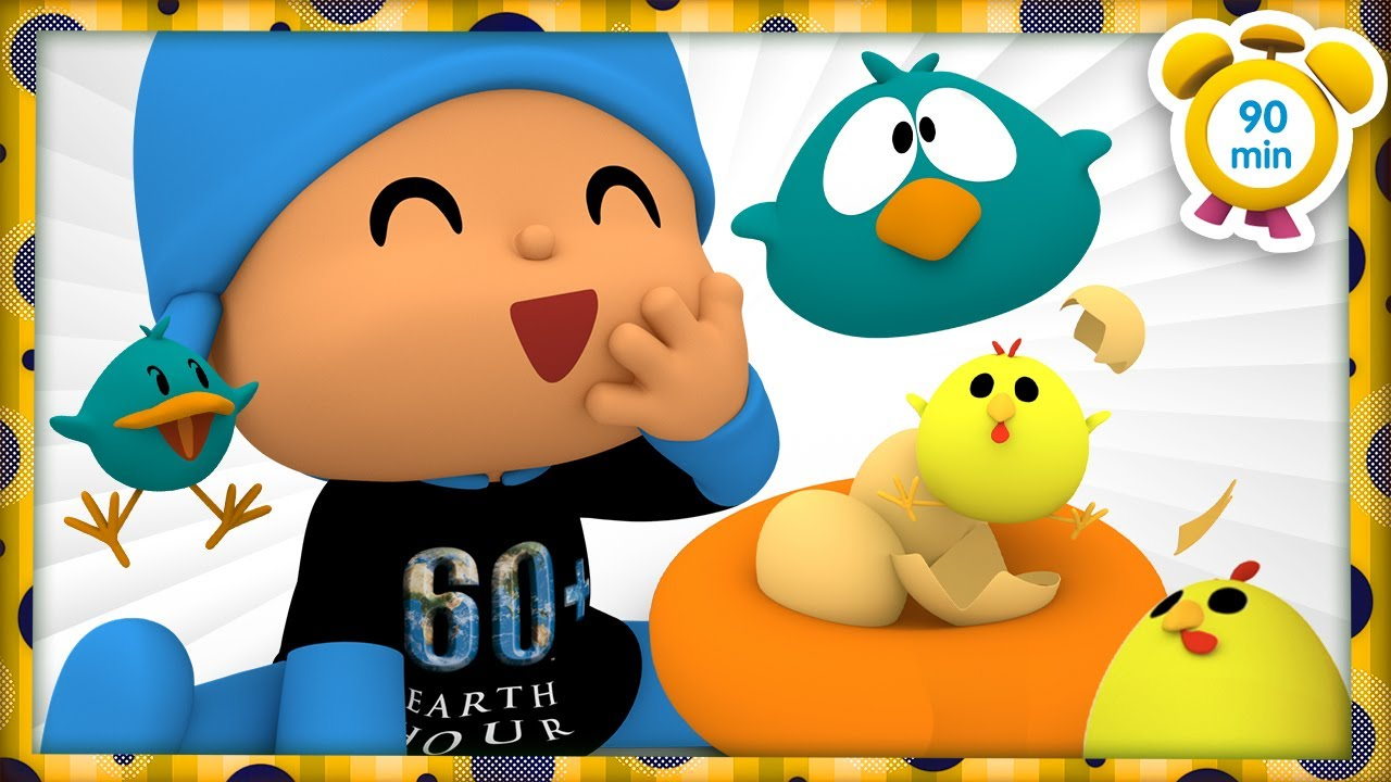 🐦 POCOYO in ENGLISH - Earth Hour: Fantastic Birds [90 min] Full Episodes |VIDEOS & CARTOONS for KIDS