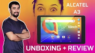 Alcatel A3 10inch 4G LTE Tablet Review (Hindi)