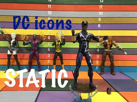 DC Icon STATIC action figure toy review