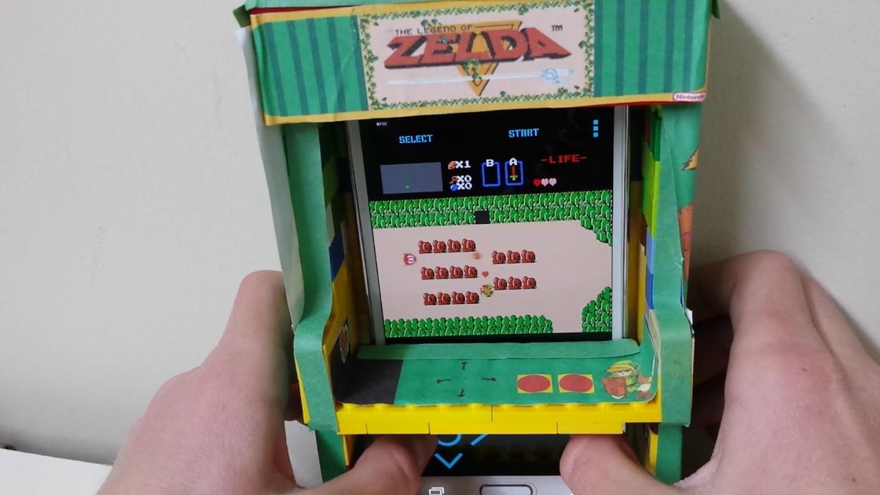 Working Lego Legend of Zelda arcade cabinet. - YouTube