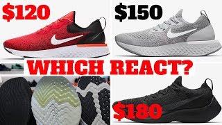 Which NIKE REACT Should You Buy? Odyssey vs Epic vs Vapor Street Comparison!