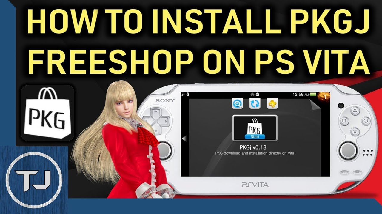 How To Install PKGj On PS Vita 3 65/3 67/3 68 (FreeShop)