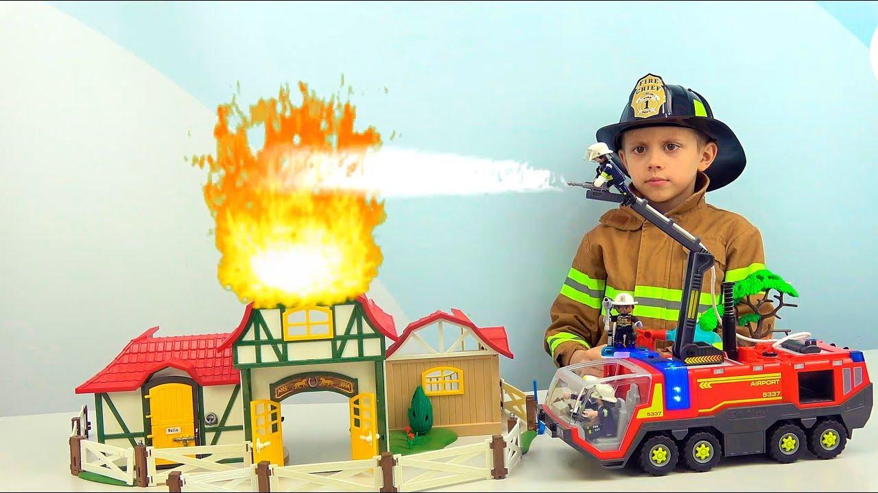 Пожарный Даник и ПОЖАРНЫЕ МАШИНКИ для детей - Интересные серии подряд про машинки и технику