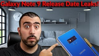 Samsung Galaxy Note 9 Release Date Leaks!!! - YouTube Tech Guy