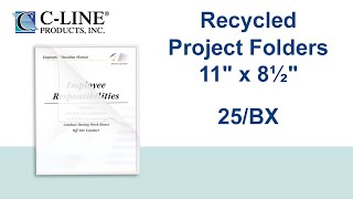 Recycled Project Folders, Clear - Reduced glare, 11 x 8 1/2, 25/BX - C-Line Products - 62127