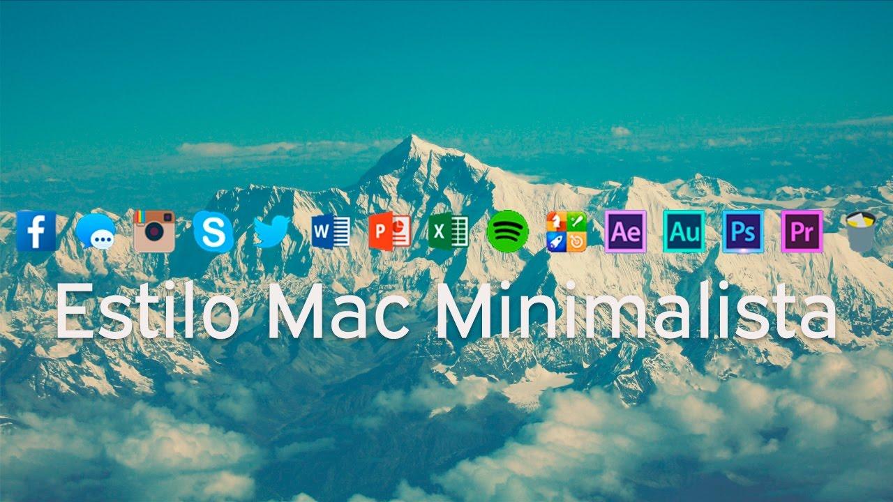 Configura nexus dock estilo mac minimalista bien for Estilo minimalista