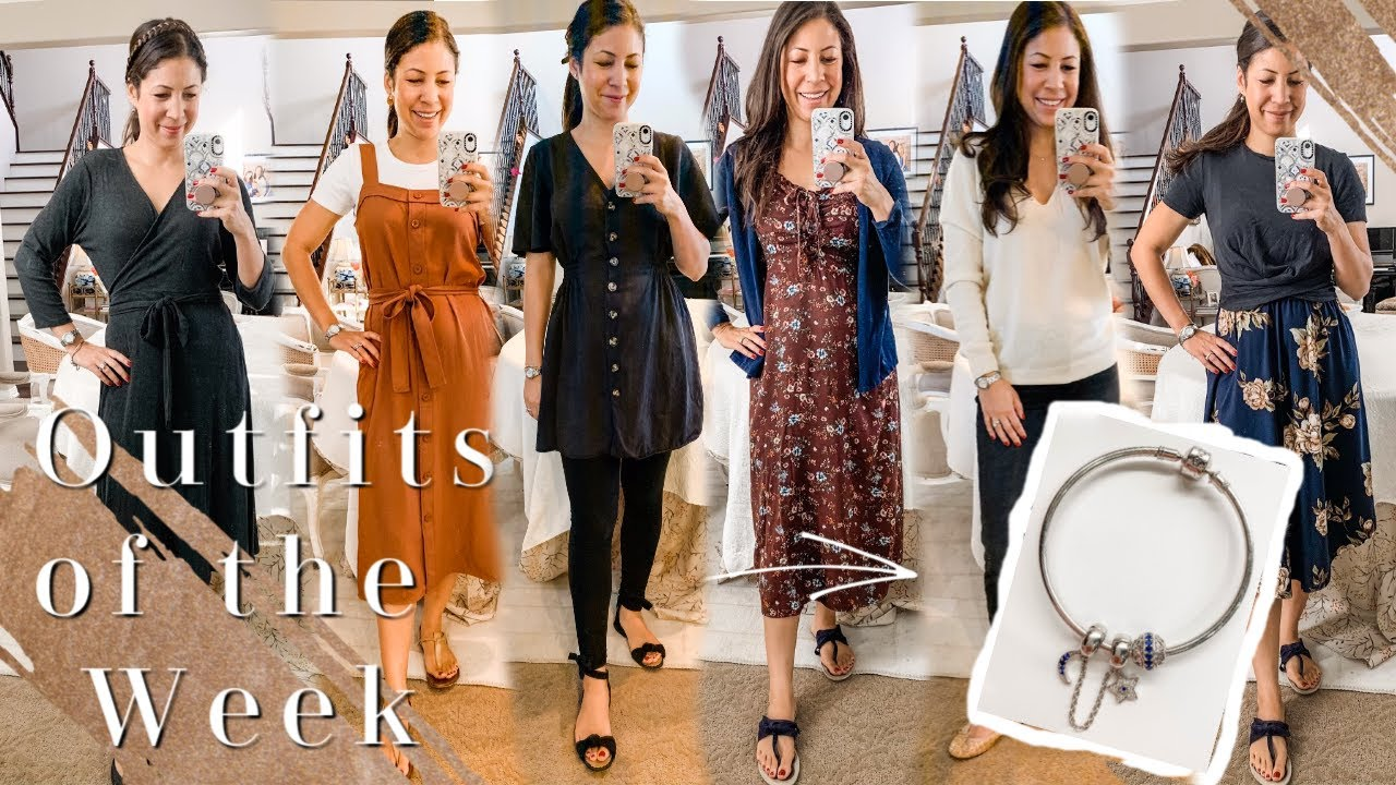 [VIDEO] - Fall Outfits of the Week | Ten-Item Capsule Wardrobe | New Charm Bracelet Jeulia Jewelry 2