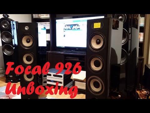 Focal Aria 926 speakers unboxing