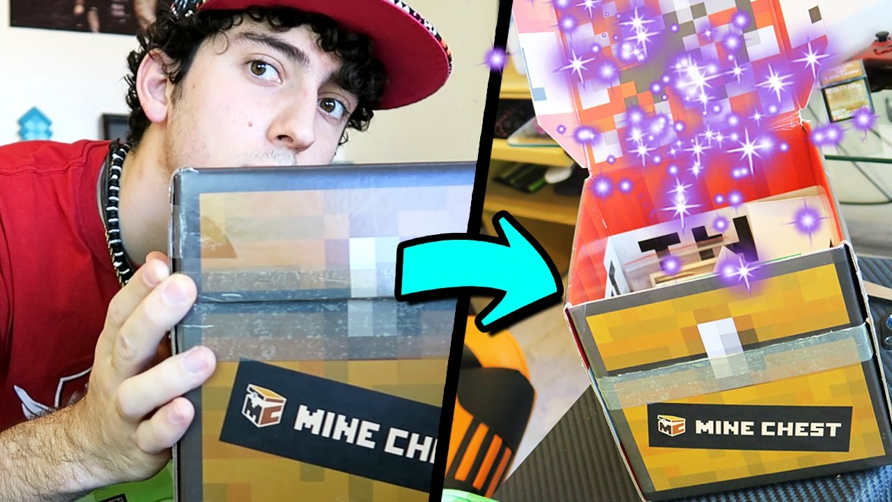 Abriendo un cofre de minecraft en la vida real for Videos de minecraft en la vida real