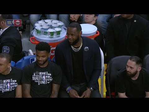 LeBron James And Lakers Bench React To Draymond Green Getting Ejected In 2Q