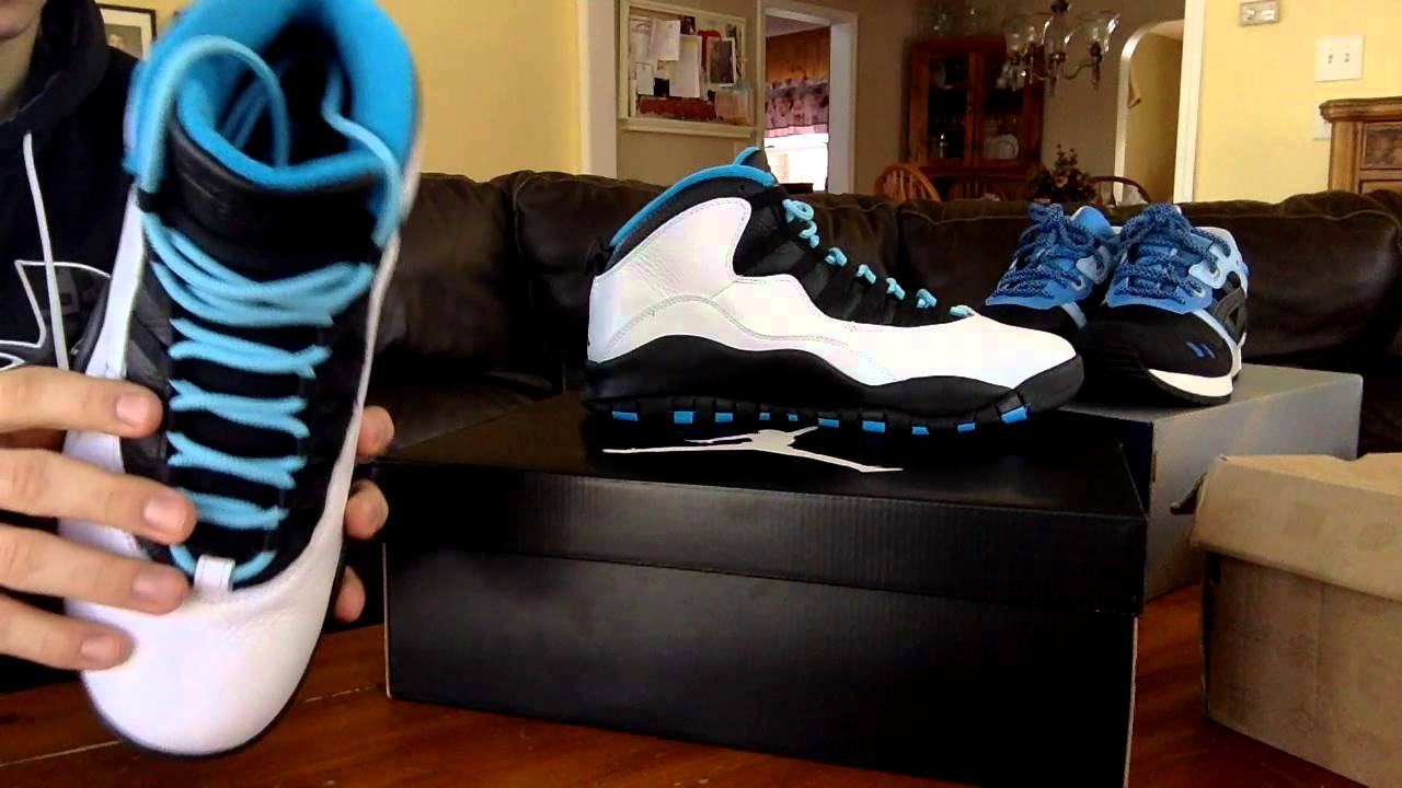 pretty nice d599c 2ecf9 Jordan Retro 10 Powder Blue (Review, Lace Swap, and On Foot)