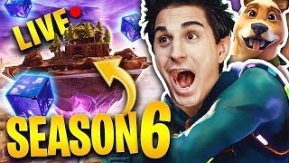 LIVE FORTNITE - SEASON 6 WITH YOUTUBERS! SO MANY REAL WINS!