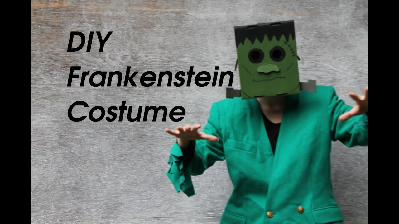 How To Make A Frankenstein Monster Costume For Halloween For Under 5 Thekateemeow
