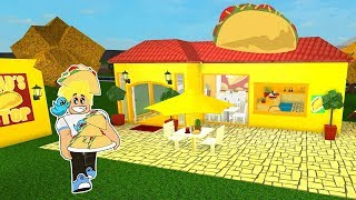 Chad's Taco Stop Restaurant in Roblox / Bloxburg Building / Gamer Chad