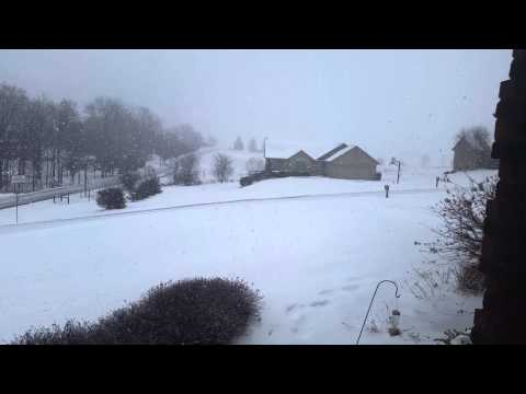 Snowing hard here in Salem Indiana