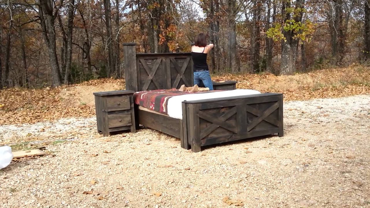 Hidden compartment bed set demo - YouTube