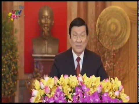 Chủ Tịch Nước Trương Tấn Sang Chúc Tết Bính Thân 2016