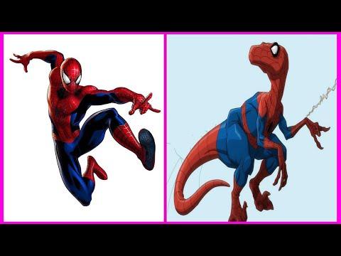 Superheroes As Dinosaurs   Superheroes Characters As Dinosaurs  