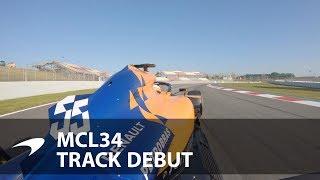 Carlos Sainz drives the MCL34