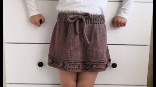 Вязаная юбка для девочки спицами Подробный мастер класс!