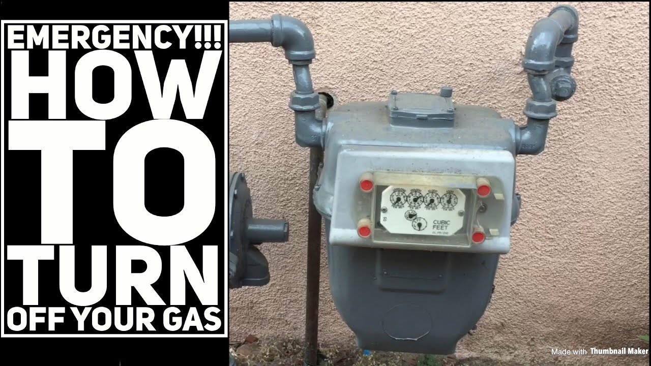 Why and how to turn off the gas
