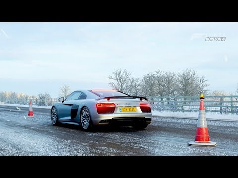 Forza Horizon 4| 610Hp 2016 AUDI R8 V10 PLUS [Hard Driving] 😎 thumbnail