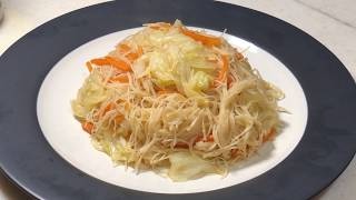 How to stirfry beehoon (rice vermicelli) without breaking them 如何避免把米粉炒断