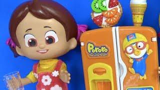 Niloya'nın yeni buzdolabında neler var? Niloya Pororo buzdolabından dondurma yiyor Pepee yemek yiyor