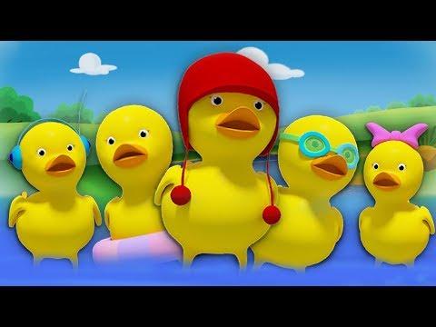 Fünf Kleine Enten | Deutsche Reime | Kinderreime | Five Little Ducks Song | Kids Tv Deutschland