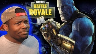 THANOS GETS REKT IN 1V1 BATTLE (FORTNITE)