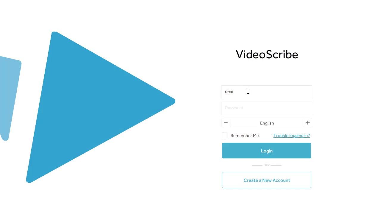 Log in to VideoScribe v3