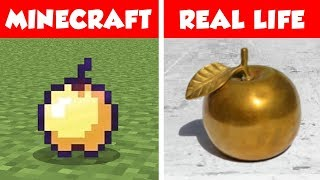 MINECRAFT GOLDEN APPLE IN REAL LIFE! Minecraft vs Real Life animation