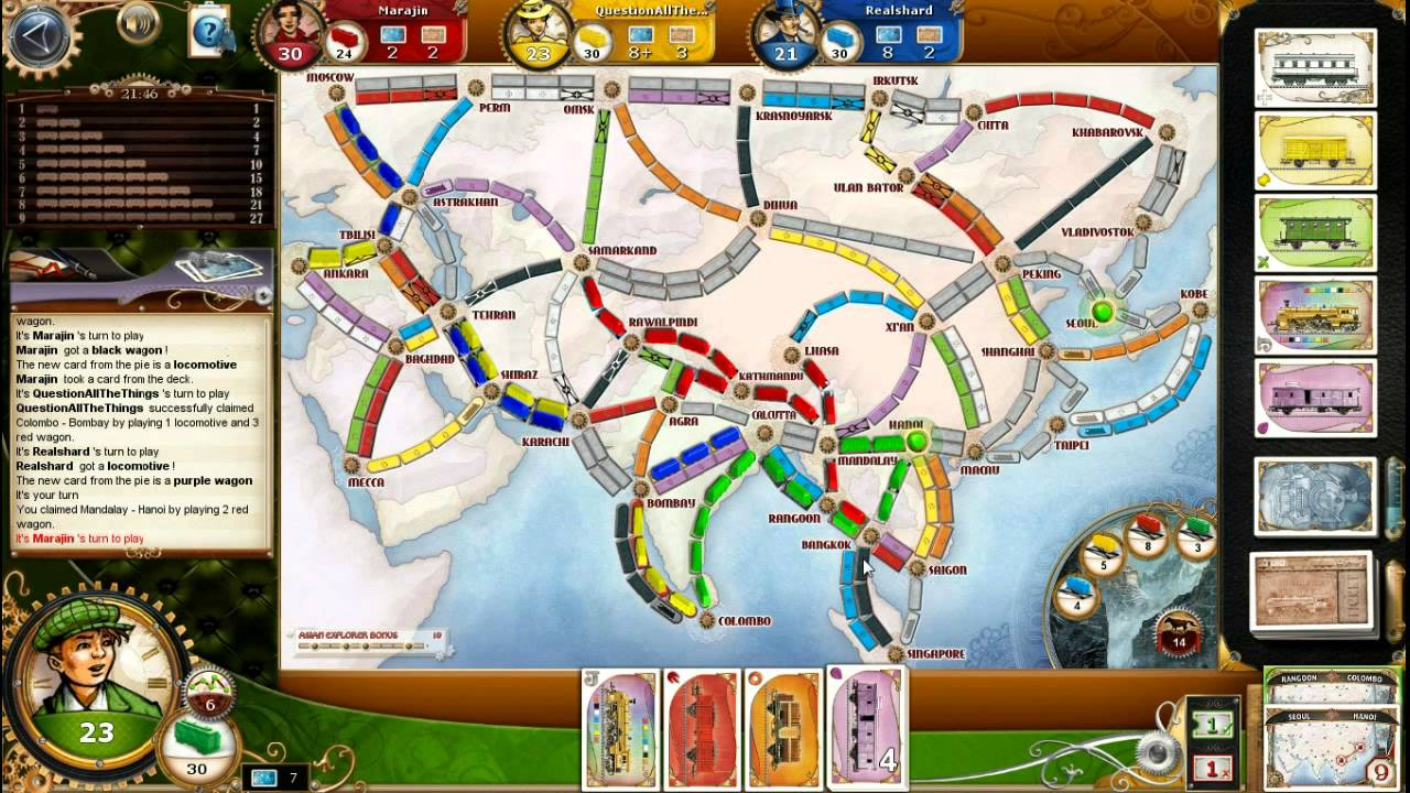 Ticket To Ride Asia Map.02 Let S Play Ticket To Ride Legendary Asia Map Youtube