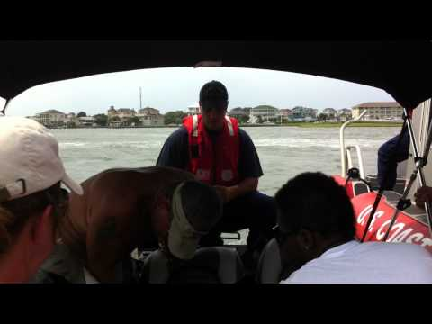 The Coast Guard pulls us over on the water