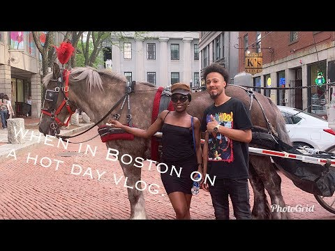 QUINCY MARKET IS LIT // vlog when in Boston // FOOD // horse carriage ride etc