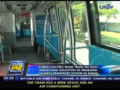 Hybrid electric road train ng DOST nakikitang solusyon sa problema sa mass transport system